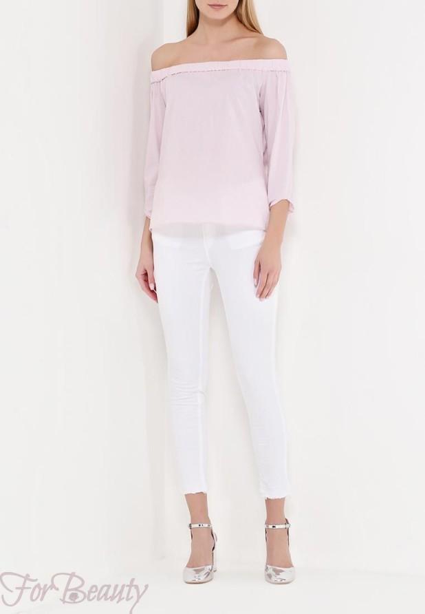 белые брюки скинни 2018 год