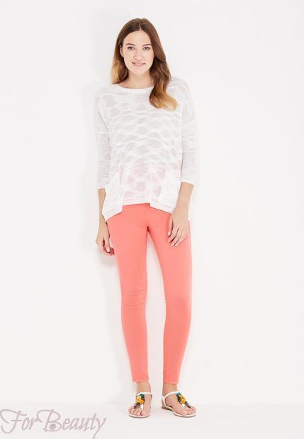модные брюки женские 2019: розовые скинни укороченные