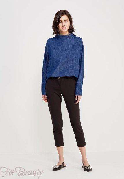 модные брюки женские 2019: черные скинни укороченные