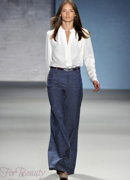 брюки женские 2019: клеш джинсы