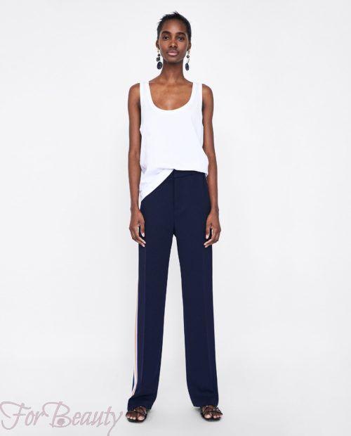 брюки женские 2019 года модные тенденции фото: синие