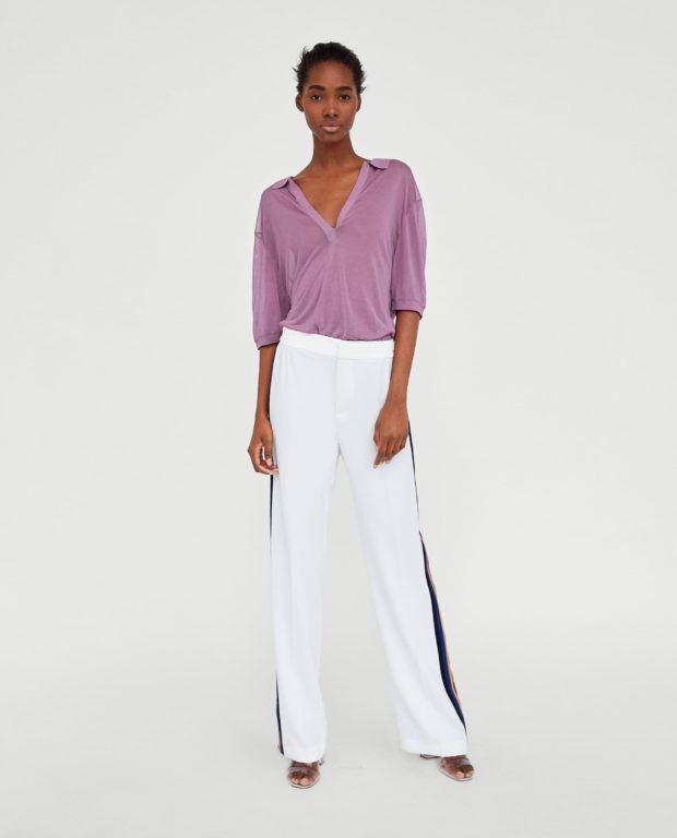 брюки женские 2020-2021 года модные тенденции фото: белые