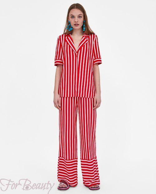 брюки женские 2019 года модные тенденции фото: красные