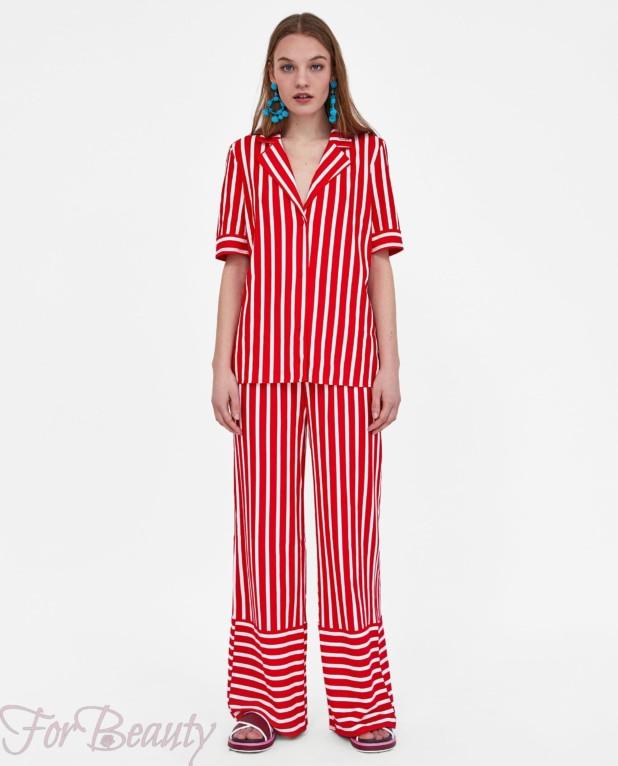 модные красные брюки 2018 год