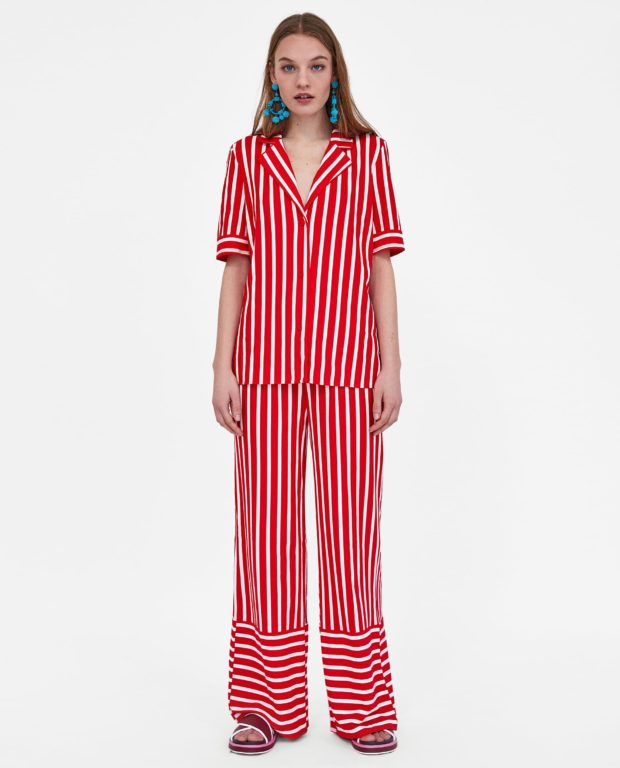 брюки женские 2021 тенденции фото: красные