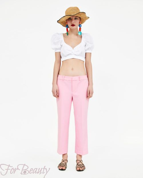 брюки женские 2019 года модные тенденции фото: розовые