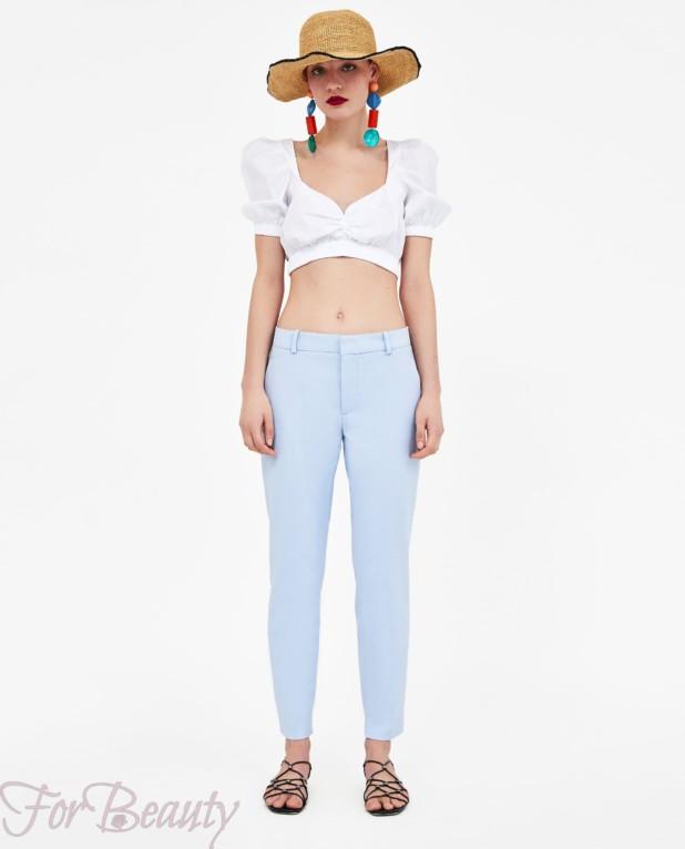 модные голубые брюки 2018 год