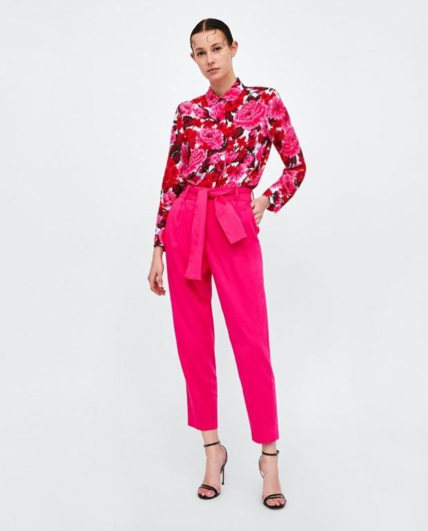 брюки женские 2018-2019 года модные тенденции фото: розовые