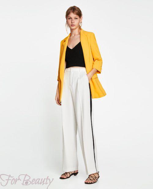 брюки женские 2019 года модные тенденции фото: белые