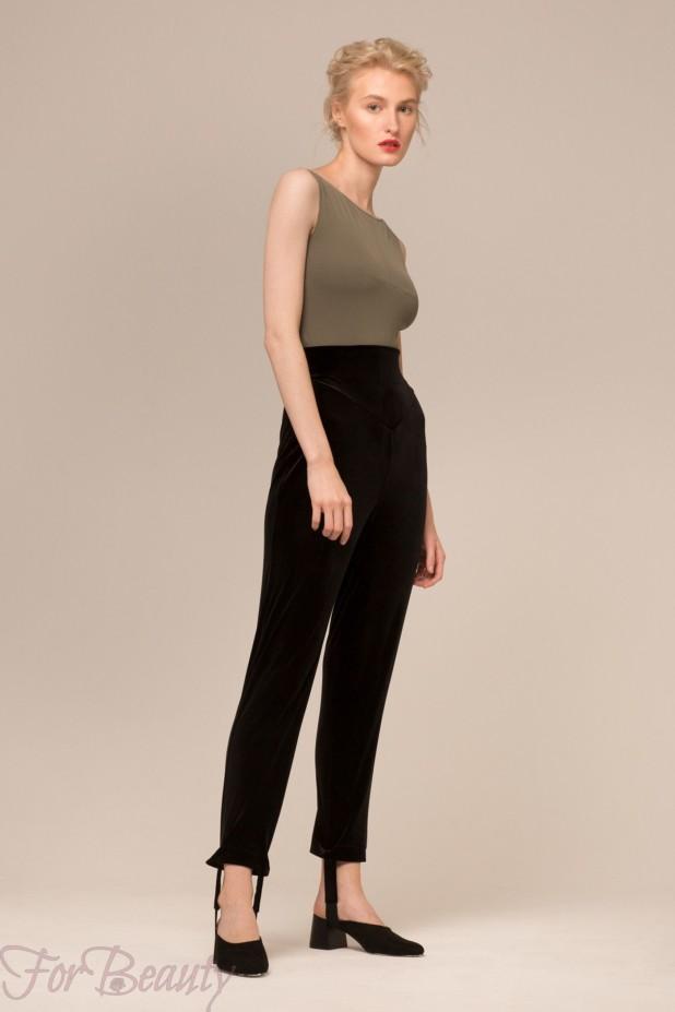 Модные бархатные брюки 2018 год