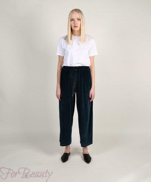 модные брюки в 2019 году для женщин: бархатные широкие