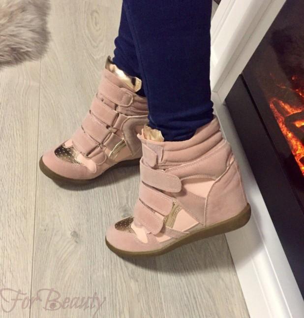 Модные розовые кроссовкисникерсы2018