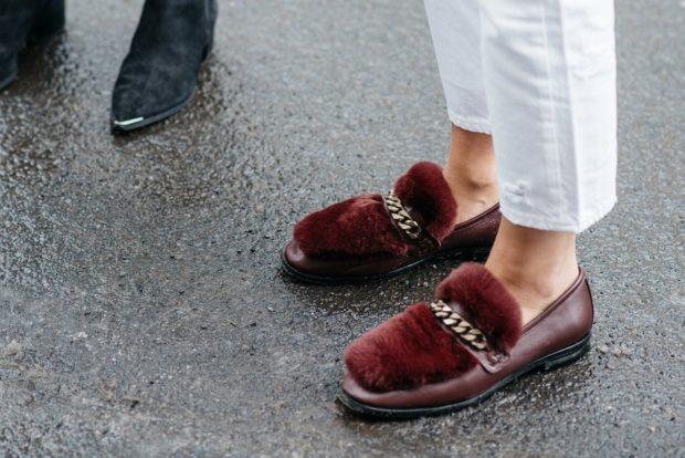 модные туфли 2018-2019: с мехом