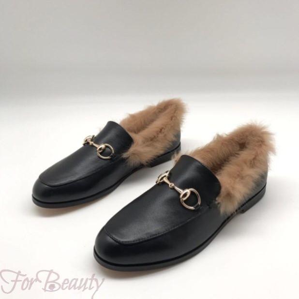 модные туфли 2018: с мехом