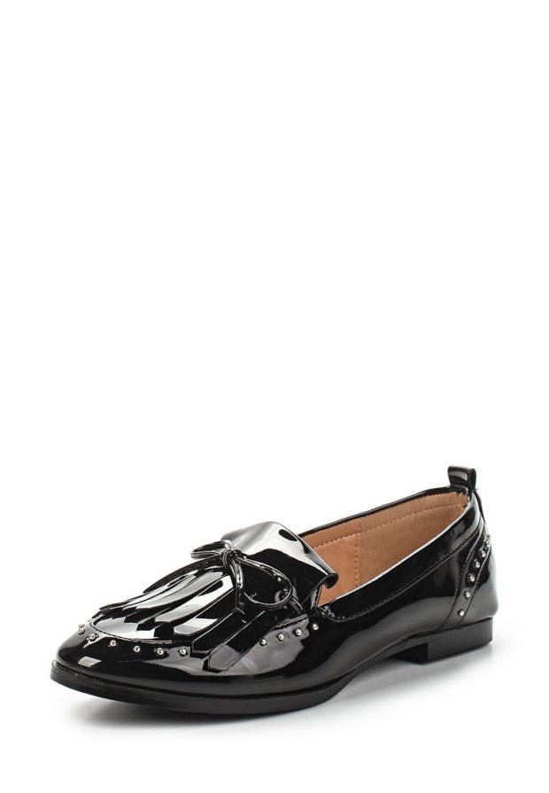 туфли женские 2018-2019: черные