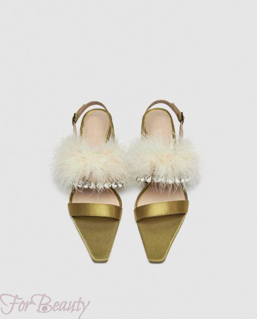 модные туфли 2018: со стразами и мехом