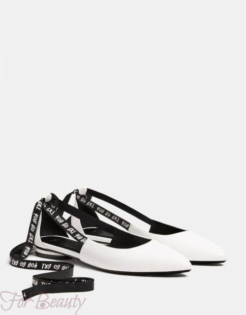 модные туфли 2018: с надписями