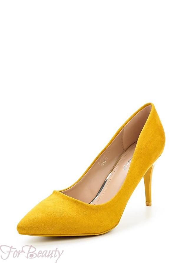 туфли 2018: желтые лодочки