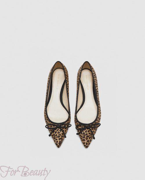 модные туфли 2018 фото женские: леопардовые без каблуков