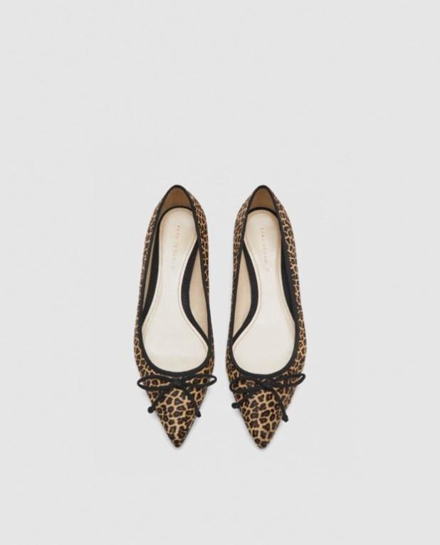 модные туфли 2018-2019 фото женские: леопардовые без каблуков