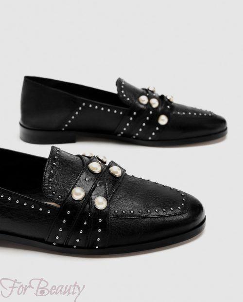 модные туфли 2018 фото женские: черные без каблуков