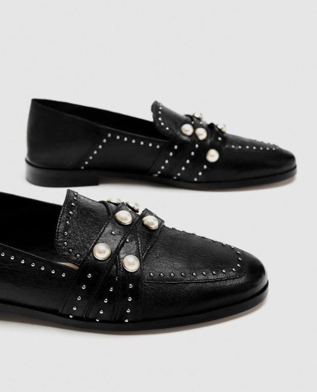 модные туфли 2018-2019 фото женские: черные без каблуков