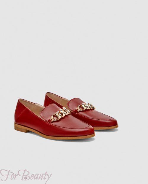 модные туфли 2018 фото женские: красные без каблуков
