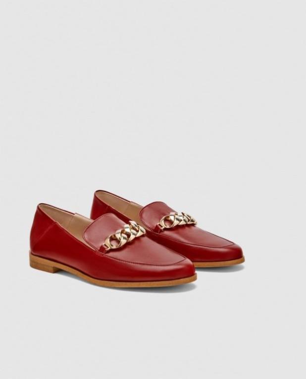 модные туфли 2018-2019 фото женские: красные без каблуков