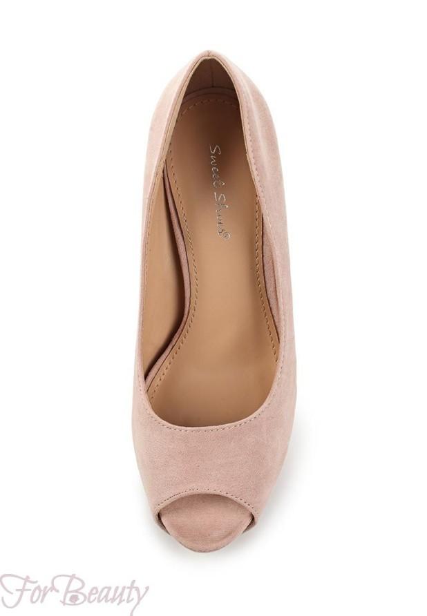 модные туфли 2018 женские фото: розовые с открытым носком
