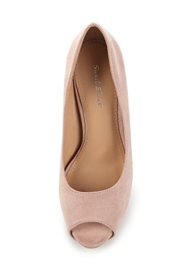 модные туфли 2018-2019 женские фото: розовые с открытым носком