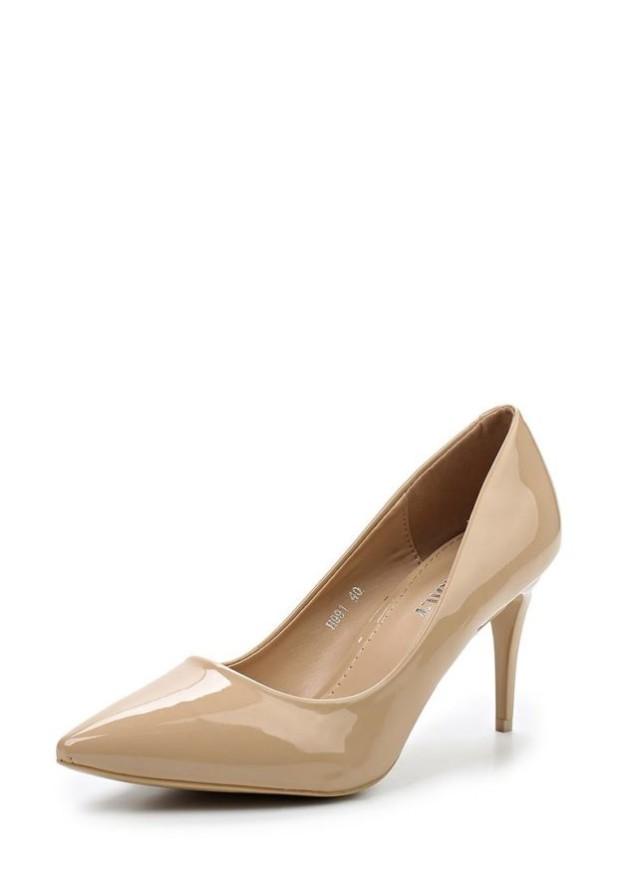 туфли женские 2018-2019: бежевые высокий каблук