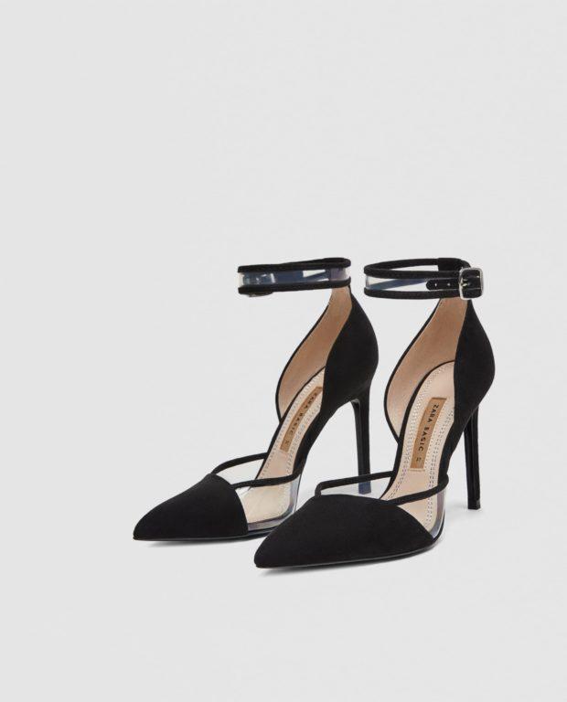туфли 2018-2019 года модные: черные на шпильке