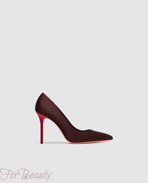 туфли 2018 года модные: бордовые на шпильке