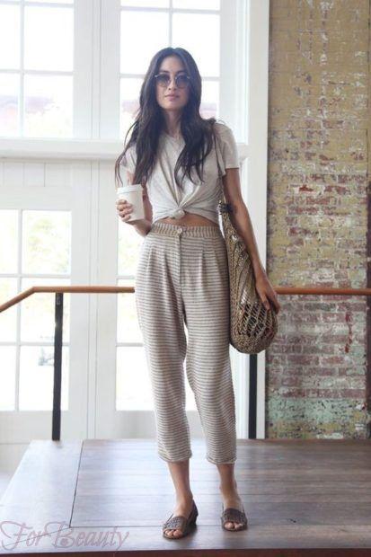 модные брюки женские 2019: красивые 7/8 2019 укороченные