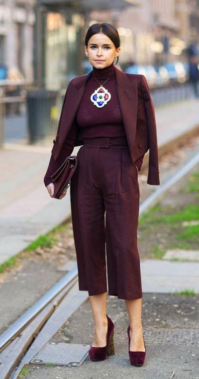 стильные брюки-кюлоты женские