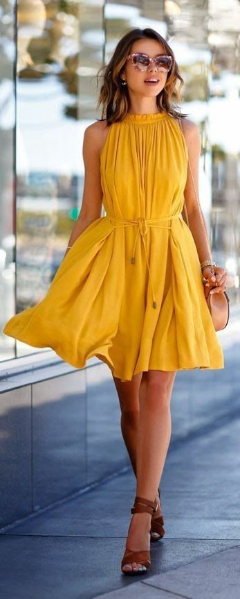 Модные платья 2018-2019 на каждый день: расцветки