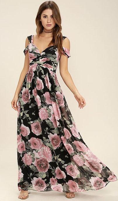 Модные повседневные платья с цветочнымипринтами