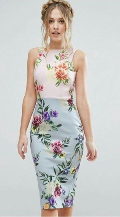 Модные повседневные платья с цветочнымипринтамифото