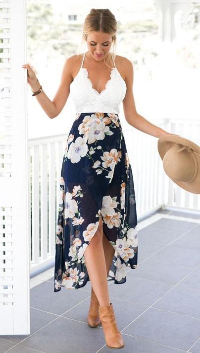 стильные повседневные платья с цветочнымипринтамифото