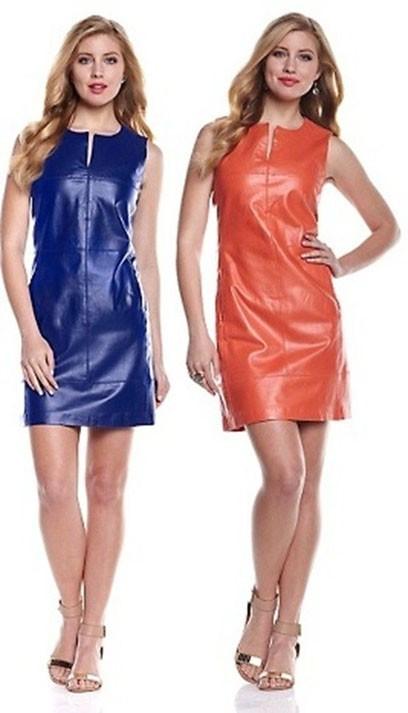 Модные платья на каждый день: кожаные фото