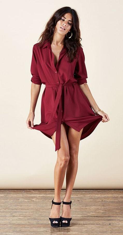 стильное платье на каждый день: рубашка