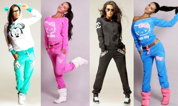 Модные велюровые спортивные костюмы 2018 фото