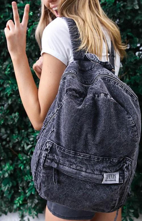 Модные джинсовые рюкзаки