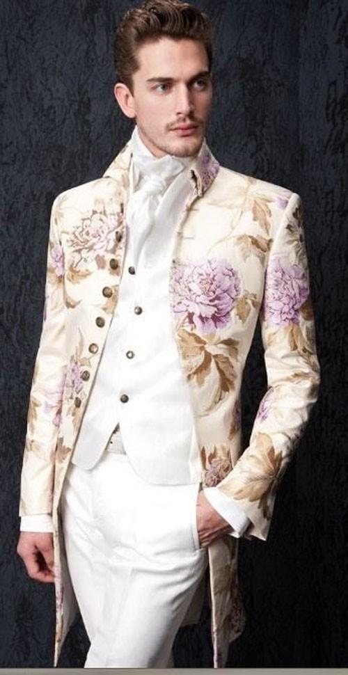 красивый костюм на выпускной для парня с принтом фото 2018