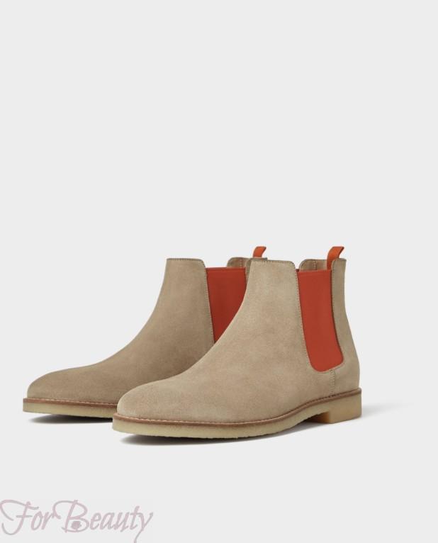 Мужская серая  обувь челси 2018
