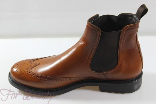 Мужская коричневая обувь челси 2018