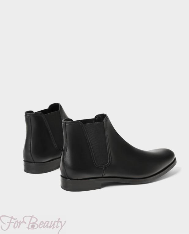 Мужская черная обувь челси 2018