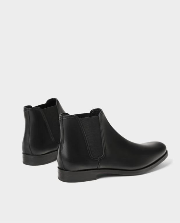 Мужская черная обувь челси 2018-2019
