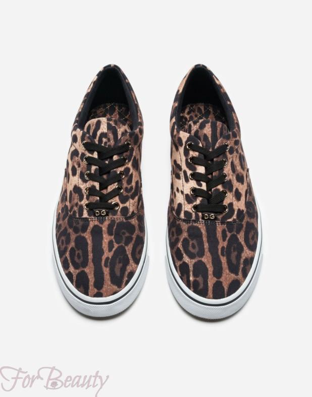леопардовые с принтом  мужские кеды 2018