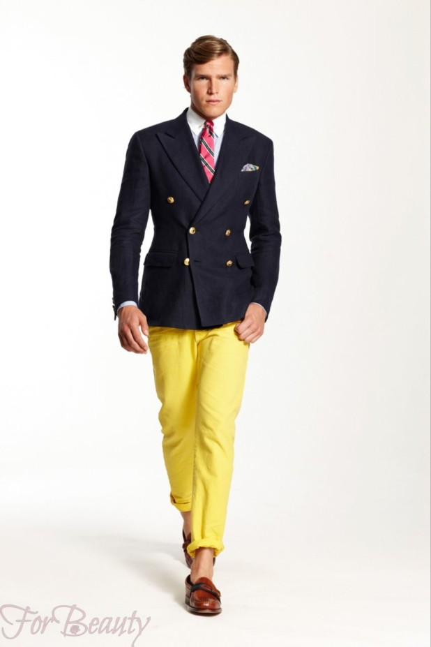 желтый костюм на выпускной для парня 2018